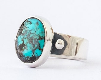 Turquoise Ring, Courtland Turquoise, Sterling Silver Turquoise Ring, Turquoise Jewelry, Natural Turquoise, Hand Made Ring, Southwestern