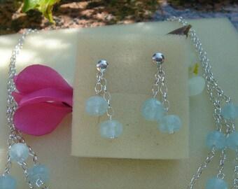 Aquamarine earrings in 925 Silver! Fantastically beautiful!