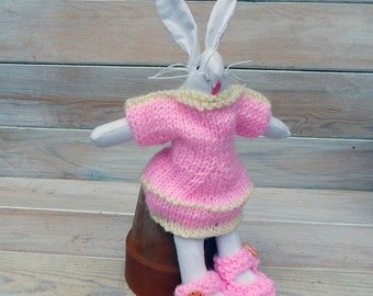 Harriet Hare hand knitted dress up
