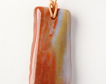 Petrified Wood Polished Pendant