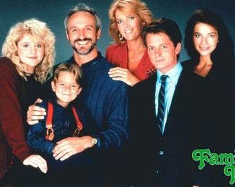 Family Ties Michael J Fox  Vintage Poster