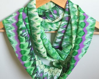 Green Print Spring/Summer Infinity Scarf