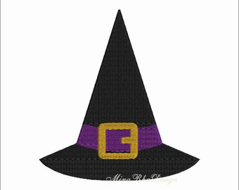 Witch Hat Embroidery Design, Machine Embroidery Design