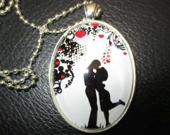 Romantic lovers necklace