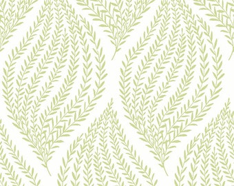 Fern Lime Green Peel and Stick Wallpaper NU1688-Sold By The Yard