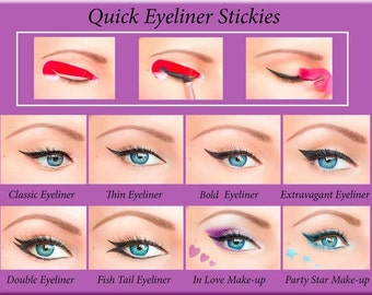 80 pcs Eyeliner Stencil Stickies Cosmetic Eye Makeup Tool  Free Shipping NEW