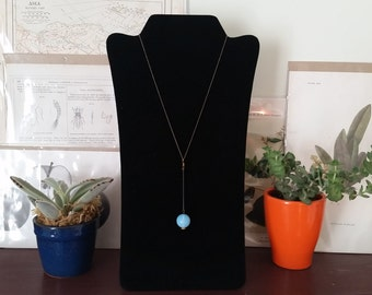 Simple Orb Necklace on Black Chain