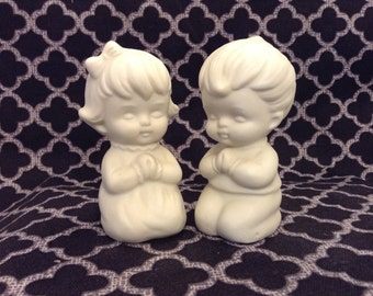 Adorable praying children Salt and Pepper Shakers
