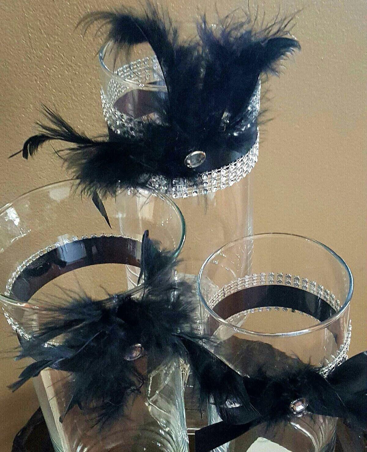 Wedding Centerpiece Reception Table Vase Set Great Gatsby