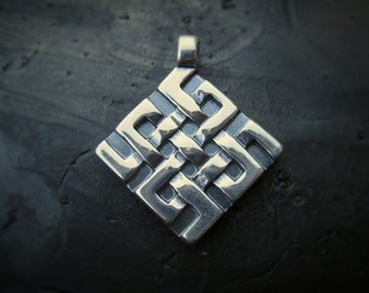 Silver Luck Cross pendant