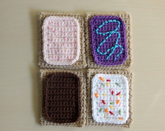 Pop-Tart Crochet Coasters