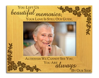 Beautiful Memories - Solid Wood Photo Frame, In Loving Memory, Remembrance