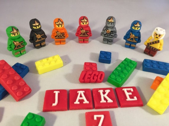 Edible Lego Ninjago Cake Topper decorations from ...