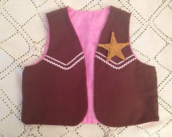 Cow Girl Sheriff Vest costume -