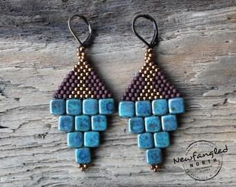 Stone Wall Earrings