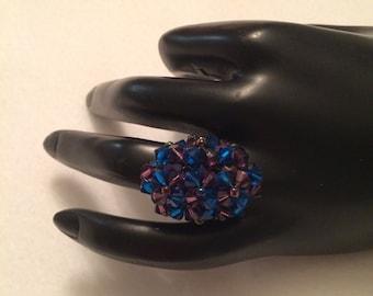 Beaded Crystal Ring - FREE U.S. SHIPPING