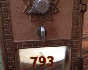 Vintage post office box door