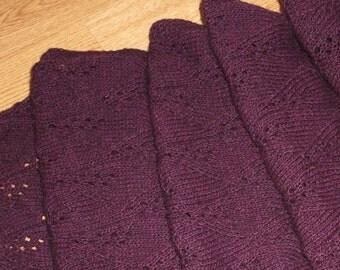 Hand Knitted Alpaca Shawl/Scarf