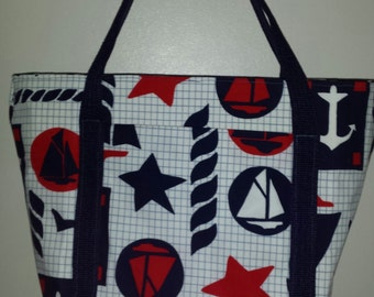 nautical lunch bag