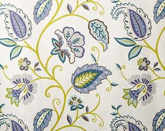 Pillow Cover, Designer Pillow Cover, BOTH SIDES, P Kaufmann Petal Pusher Juniper
