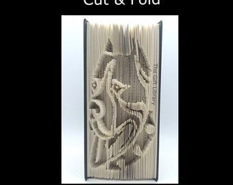 Book Folding PATTERN~Cut & Fold ~ Rottweiler dog
