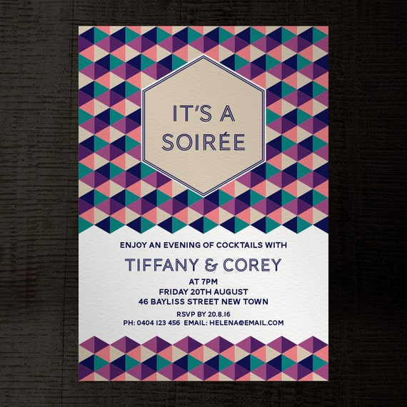 soiree indesign template party invitation a5 for birthday, Invitation templates