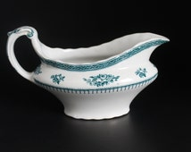 Gravy Boat, Losol Ware, Shrewsbury Pattern, Keeling and Company, Blue and White China