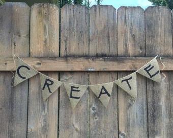 CREATE Burlap Banner - CUSTOMIZE!