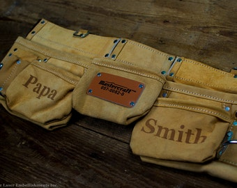Birthday Gifts for Dad - Personalized Leather Tool Belt for Men - Custom Gifts - Toolbelt - Customize with ANY DESIGN!