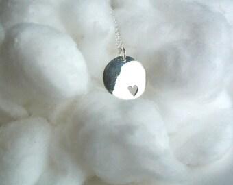 Circle heart pendant