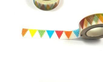 Bunting Flag Washi Tape Gold Foil, Crafts, DIY