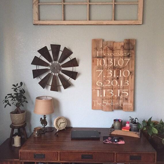 Rustic Wholesale Home Decor: 24 Inch Full Windmill Head Wall Decor-Rustic Farmhouse