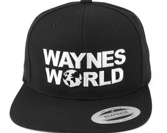 FLEXFIT WAYNE'S WORLD Embroidered Original Premium Snapback Cap