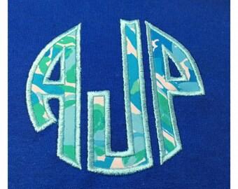 Lilly Pulitzer Monogrammed TShirt, Short Sleeve Monogrammed Shirt, Women's Lilly Pulitzer Monogram Tshirt