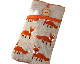 Foxes case Lumia 950, Microsoft Lumia 650 Case Cover, Fabric case Lumia 950 XL Cover,  Lumia 640 XL Case - Foxes Pattern