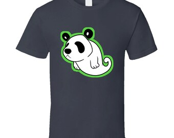 Ghost Panda - Grey T-shirt - Cute
