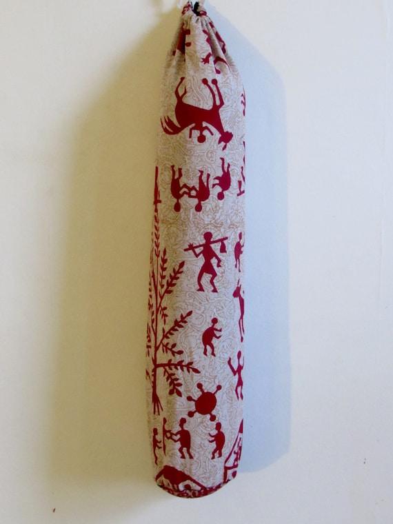 Yoga Mat Bag Pilates Mat Bag handmade Indian Tribal People Yogi People Bespoke Red and White (b55) Free Gift choice Free UK Delivery