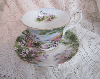 English Countryside Tea Cup and Saucer
