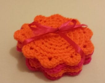 Crochet coasters - set of 4