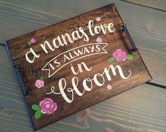 Custom, Nana | Grandma | Mother, Decorative, Serving Tray