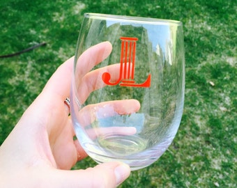 Junior League, Glass, Wine, Stemless, JL, Percentage of Sales Donated
