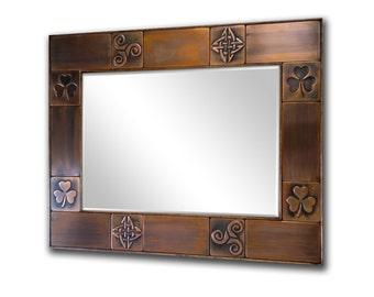 Mirror for livingroom, Mirrors for bathroom, framed mirror,  Celtic designs.