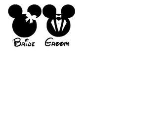 Disney bride or groom shirt