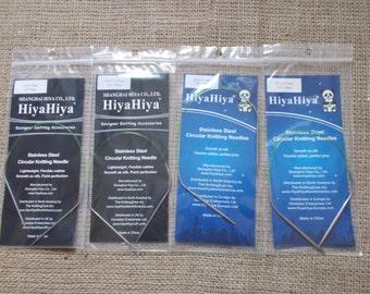 "HiyaHiya Stainless Steel Circular Knitting needles, 30cm/12"""