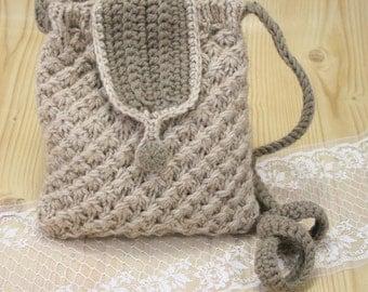 Knitted bag, handmade bag