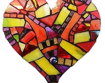Mosaic  Heart - Abstract