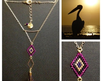 diamond tassel necklace
