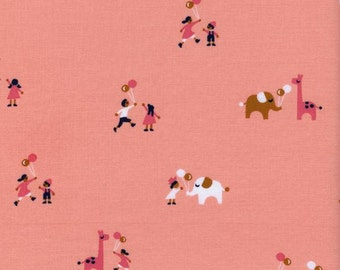 1 Yard Penny Arcade by Kimberly Knight for Cotton and Steel 3029-2 Balloons Pink