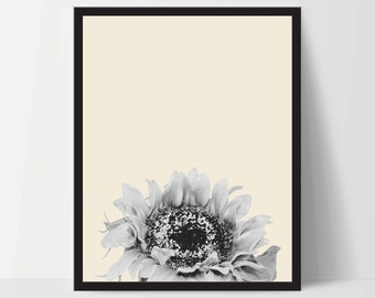 Printable, Yellow Sunflower, Wall Art, Artwork, Home Decor, Modern Print, Print Art, Nature Art, Living Room, Digital Print, 12x16