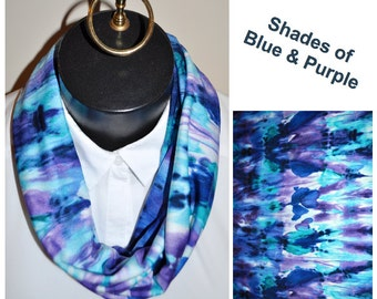 Shades of Blue and Purple Infinity scarf